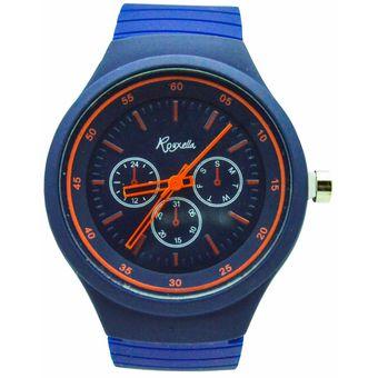 87f5e0f142b5 Compra Reloj Analogico Goma Mujer Kipuy - Azul Naranja online ...