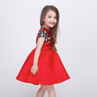 8ac90a7b3e Compra Hermoso Vestidos Para Niñas Con Cinturón Falda De Flores ...