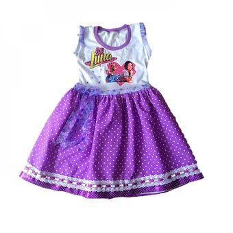 Vestido Para Niña Disney Soy Luna Morado