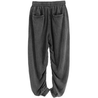 F426 Diseno De Moda Unisex Jogger Mujer Pantalones 100 De Algodon Pantalones Sueltos Fit Color Puro Streetwear Hombres Pantalones Sueltos Cargo Grey Linio Colombia Ge063fa1j6zzflco