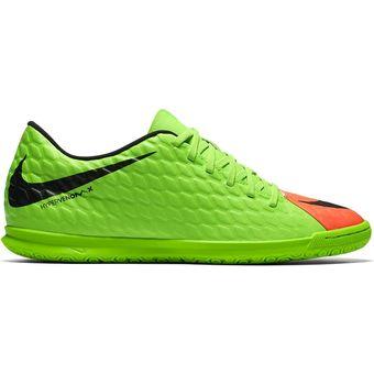 reputable site 4f857 ecb81 Guayos Fútbol Hombre Nike HypervenomX Phade III IC -Verde Con Naranja
