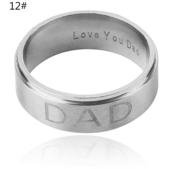 8mm European And American Style Fashion Stainless Steel Ring Men Women Silver
