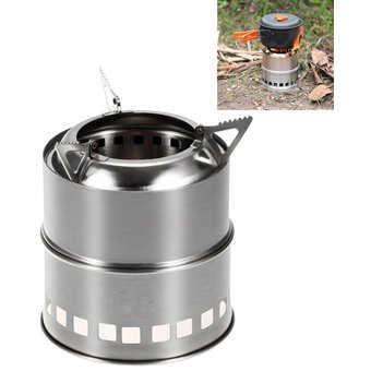A Utensilios de cocina Mini estufa de alcohol de cocina Camping Estufa de acero inoxidable s/ólido l/íquido alcohol estufa parabrisas dise/ño a prueba de viento Picnic camping accesorios N