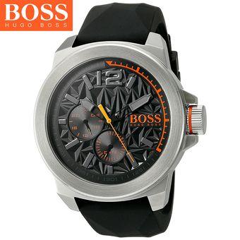 c2f4e9a1159c Agotado Reloj Hugo Boss Orange 1513346 New York - Acero Inoxidable Correa  De Silicona - Negro Plateado