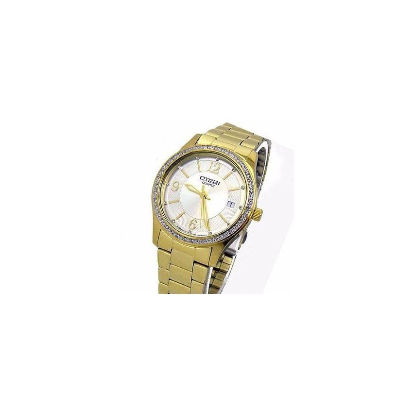 Reloj Citizen Ev004253a  Cristal Duro-Dorado