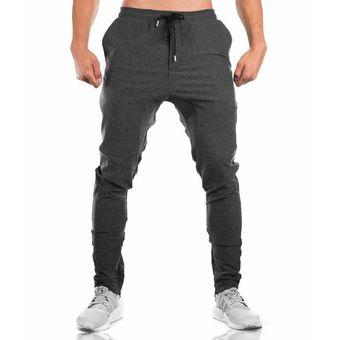 Pantalones De CháNdal De AlgodóN Para Hombre Para Gimnasio - Gris Oscuro 6b7232767a6
