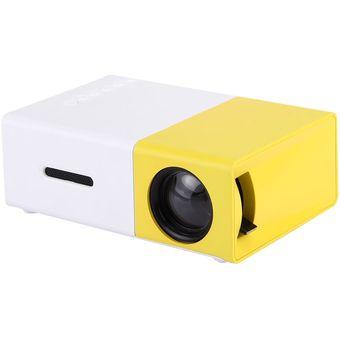 Yg-300 0.8-2m 60 Pulgadas De 400 - 600 Lúmenes Proyector LED HD Home Theater Con 3 En 1 Video Convert Cable Y Control Remoto, Tamaño: 12,6 X 8,6 X 4,6 Cm, Enchufe De La UE