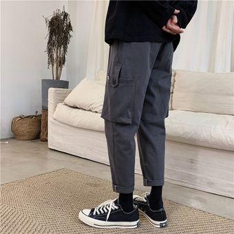 Pantalones Negros Informales Para Hombre Moda Coreana Marca Tide Pantalones Para Correr Pantalones Rectos Harajuku Hip Hop Wan Gray Linio Peru Ge582sp0ebqazlpe