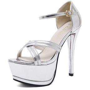 sandalias 5 cm elegantes gris talón cuadrado sandalias como piel 1115