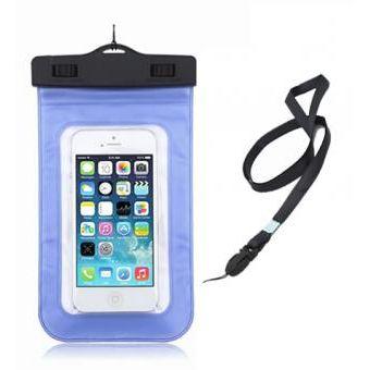 ba34bb09828 Agotado Funda Acuatica - funda bolsa impermeable acuatica universal para  celular fotos bajo el agua - Azul