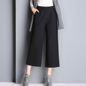 Nueve Mujer Pantalones Otoño Anchos Compra E Invierno 10Aaqf