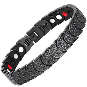 f85f2d709053 Pulsera De Salud De Energía Magnética De Acero Inoxidable-negro