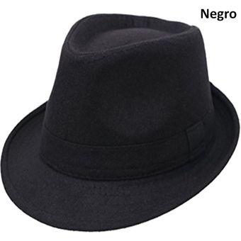Compra Sombrero Fedora Tipo Gardel Playa Sol Talla Única Negro ... 6b765f7fbf1