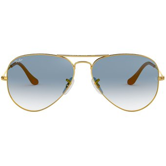 873fe7c97 Compra Lentes Ray Ban Aviador Metal Dorado - Azul Gradiente online ...