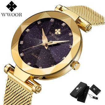 Wwoor Lo Más Vendido Cielo Estrellado Reloj De Mujer De Lujo Diamante Negro Acero Inoxidable Pulsera De Cuarzo Relojes Para Mujer Reloj De Mujer Gold Linio Perú Un055fa0hvprvlpe
