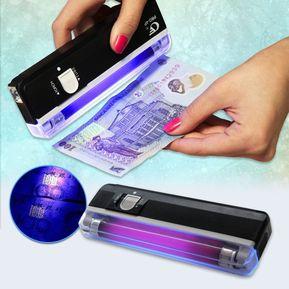 823e94ef2 Chequeador De Billetes Portátil Detector Probador UV Luz Negra DL-01