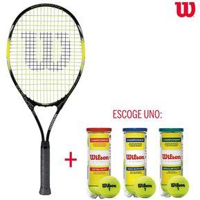 0bfb0fa18c3 Raqueta Tenis Wilson Energy XL Grip3 + Pelotas Championship