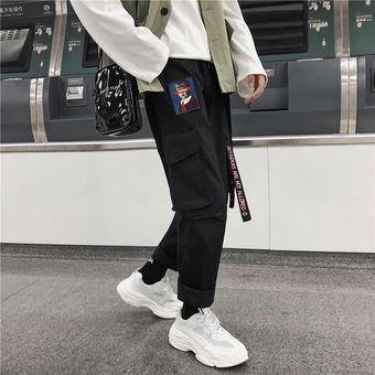 Pantalones Para Hombre Pantalones Estilo Coreano Nueva Moda Hombres Longitud Completa Cordon Alta Calidad Hip Hop Hombres Venta Caliente Pantalones Diario Wan Black Linio Colombia Ge063sp187tinlco