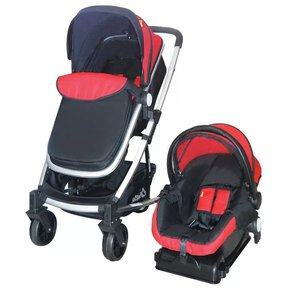 4ff64b419 Carriola Travel System Crown Carriola + Autoasiento 1ª Etapa +  Bambineto-Rojo