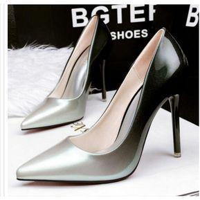 e5063a3309430 Zapatos de tacon Pumps Fashion-Cool Mujer-plateado