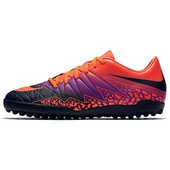 fb4599809ec Agotado Zapatos Fútbol Hombre Nike Hypervenom Phelon II TF-Morado Y Naranja