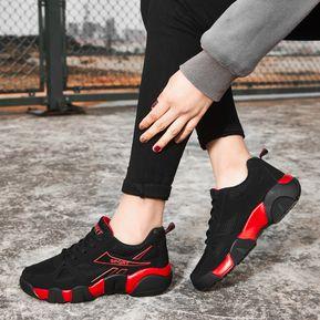 bd78c62ac91 Hombre Mujer Zapatos Casual Para Parejas Tailun-cool-Negro Y Rojo