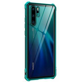 7e0b1f0bc7e Funda De Hebilla Transparente Para Huawei P30 Pro-Verde