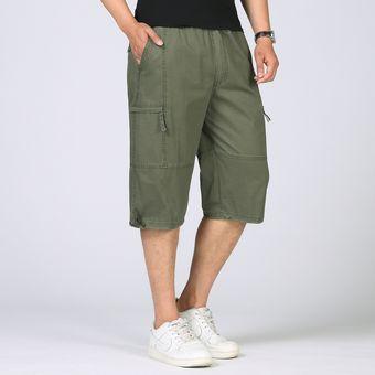 selección premium 4a8e4 9c7c2 Hombres Pantalones Capri Delgados De Verano Sueltos Pantalones Casuales