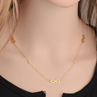 cada00e2affe Compra Collar Acero Inoxidable Harmonie Accesorios Infinitos Dorado ...