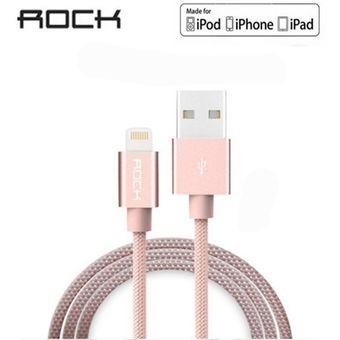 7775d9beb72 Rock - Cable De Carga Y Datos Lightning 1M 8Pin USB Para IPhone / IPad /