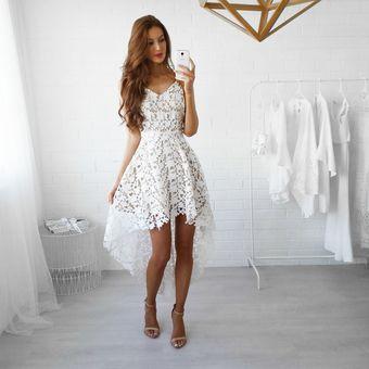 Agotado Vestido Sin Mangas De Encaje De Cola De Milano De Elegante -Blanco 866dfc2fd8b6