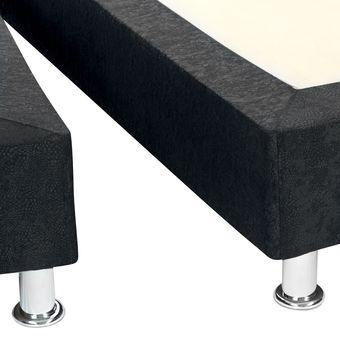 Base Cama Dividida 120 X 190 Semidoble Negro