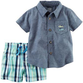 2c25c8764 Compra Set/Conjunto 2 Piezas Carter´s Short + Camisa Para Bebé Niño ...