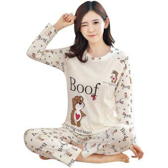 Primavera Y Otono Nuevos Pijamas De Manga Larga Pantalones De Mujer Pijamas De Dibujos Animados Lindos Linio Mexico Ge598fa1k7720lmx