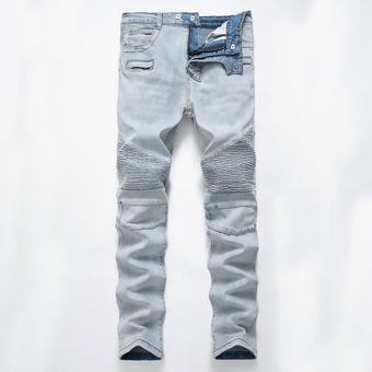 2ce7cded4 12 Hombres De Largo Pantalones Vaqueros Robin Pantalones Chico Agujero  Madura Moda Casual Encantador Muchacho Pantalones