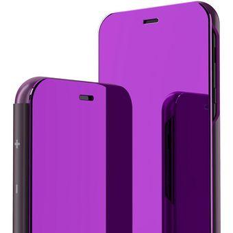 excepcional gama de colores más tarde rendimiento superior Funda De Espejo Para Samsung Galaxy A6 Plus 2018-Azulpúrpura