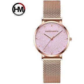 80cf23feb06f Hannah Martin MS36 reloj cuerzo casual impermeable para mujer Rosa