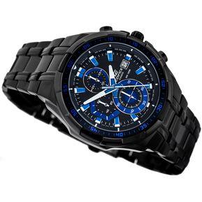 b80427b15ad1 Reloj Casio Edifice Modelo Efr 539bk-1a2 Pavonado Azul Original