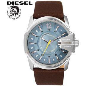 17f8b92e9c8a Reloj Diesel Mega Chief DZ1399 Acero Inoxidable Correa De Cuero - Marrón