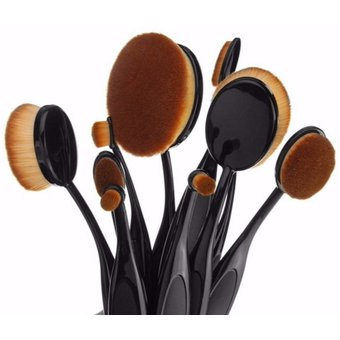 official supplier nice cheap official shop Set 10 Brochas Ovaladas Profesionales Maquillaje Tipo Mac Sombras  Cosmeticos Maquillistas Makeup