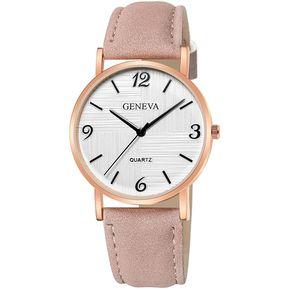 c6599f1d4d3c Geneva 664 Reloj de Cinturón de cuero para mujer Rosa