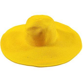 11c4d4033443f E-Thinker Sombrero Para El Sol Para Playa Sombrero Grande Gorra-Amarillo