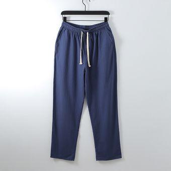 Pantalones De Verano De Talla Grande De Algodon Para Hombre Pantalones De Pierna Ancha De Tallas Grandes Pantalones De Lino Holgados De Talla Grande Para Hombre Chun Dark Blue Linio Peru