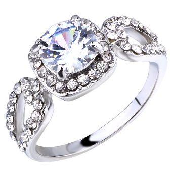 venta caliente online d7535 86cd8 Anillo de piedras preciosas de oro blanco chapado en oro blanco para mujer