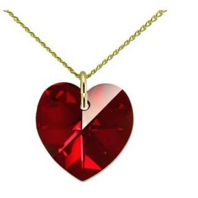 db8fff134f0a Collar Mujer Corazón - Rojo Con Crystals From Swarovski