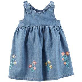 29cde0f78c4e8 Vestido Denim Carter´s Para Bebé Niña - Denim