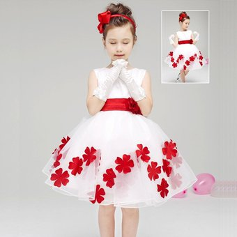 732e5dc8b Vestidos Florales Para Chicas Sin Mangas Niñas Ropa Blanca Vestido De  Fiesta De La Princesa (