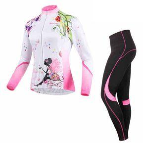 Set Poliéster Licra Y Jersey Ciclismo Mtb Ruta Bicicleta Mujer BATFOX BT002 bf7d4fbc18509
