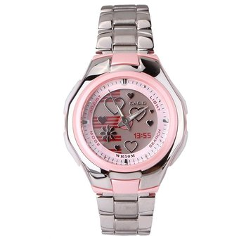 7baa52c60355 Compra Reloj Casio Poptone LCF 10D 4ADama Doble Hora -Rosado online ...