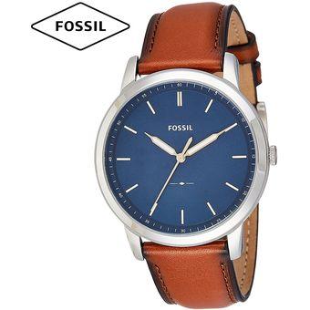 f65733291d53 Reloj Fossil Minimalist FS5304 Ultra Delgado Correa De Cuero - Marrón Azul